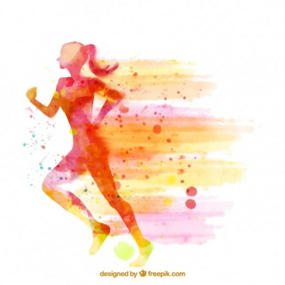 fondo-de-silueta-de-mujer-corriendo-de-acuarela_23-2147579826