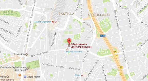 mapa Colegio Nuestra Señora Del Recuerdo
